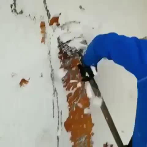 Watch and share Shaving Plaster Off A Wall GIFs by tothetenthpower on Gfycat