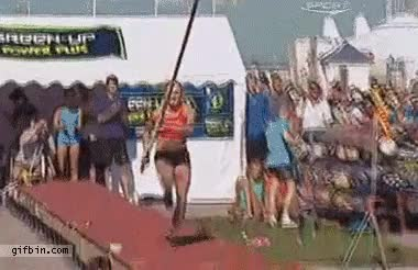 Watch and share Pole Vault Beark GIFs on Gfycat