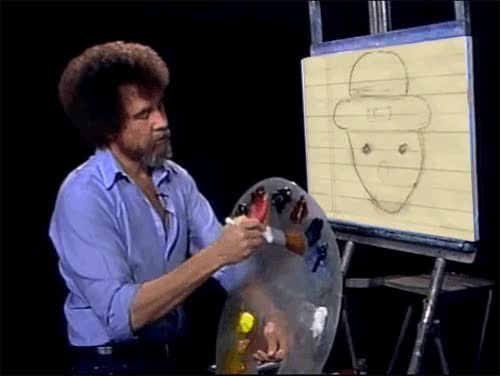 Watch and share Bob Ross GIFs on Gfycat