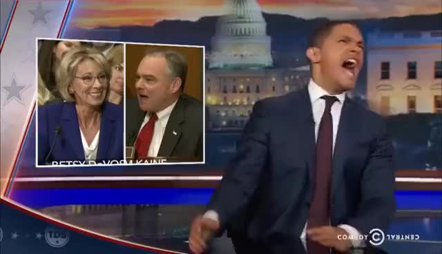 Watch and share Betsy DeVos Gets Grilled: The Daily Show GIFs on Gfycat