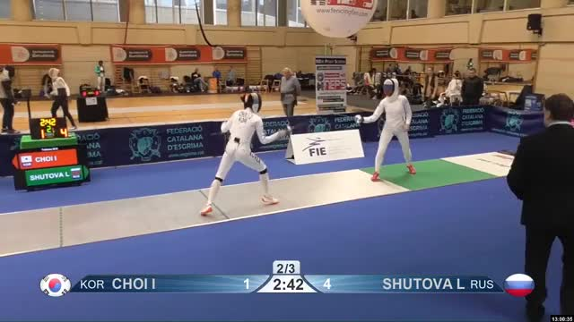 Watch CHOI I 2 GIF by Scott Dubinsky (@fencingdatabase) on Gfycat. Discover more gender: female, leftname: CHOI I, leftscore: 2, rightname: SHUTOVA L, rightscore: 4, time: 00009940, touch: left, tournament: barcelona2019, weapon: epee GIFs on Gfycat