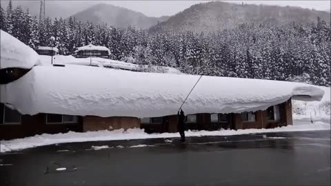 Watch and share This Snow Falling Off A Roof GIFs on Gfycat