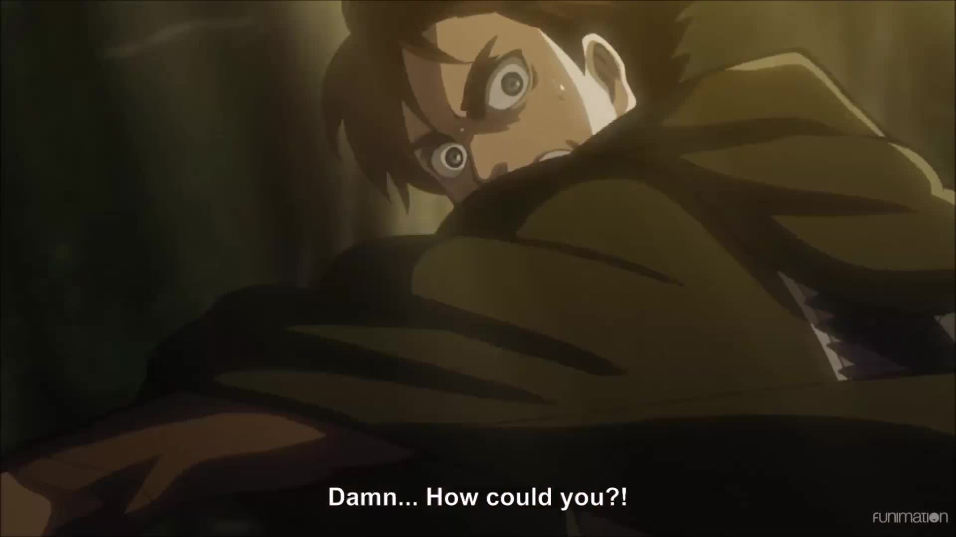 Anime, Attack on Titan Episode 21, AttackonTitan, AttackonTitanEpisode21, Dark Fantasy, Funimation, Shingeki no Kyojin, ShinkgekinoKyojin, Shounen, Shounen Anime, post apocalyptic, steampunk, Eren is ready to throw down. Attack on Titan  Ep 21 GIFs