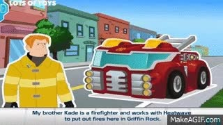 Watch and share Transformers Rescue Bots Rescue Griffin Rock From Giant Vines Heatwave, Chase GAME REVIEW GIFs on Gfycat