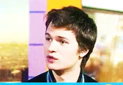 Watch Ansel Elgort GIF on Gfycat. Discover more **, 2014, ansel elgort, anselelgortedit, cause you're queue, gifs, interview, the today show, why are you staring at me? GIFs on Gfycat