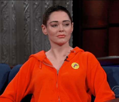 annoyed, bored, dgaf, dont care, eye roll, rose mcgowan, the late show, whatever, Rose McGowan Eye Roll GIFs