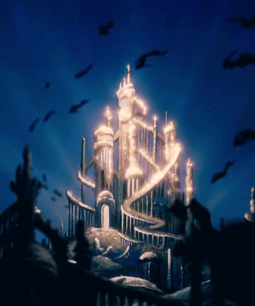 Watch and share Gif Ariel Disney Gif Ocean Sea Castle Swimming Mermaid Palace Ariel The Little Mermaid Atlantica GIFs on Gfycat