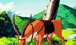 Watch Princess Mononoke   1997   Yakul GIF on Gfycat. Discover more anime, film, ghibliedit, gif, hayao miyazaki, mine: studio ghibli, movie, princess mononoke, queue, studio ghibli, studioghibliedit GIFs on Gfycat