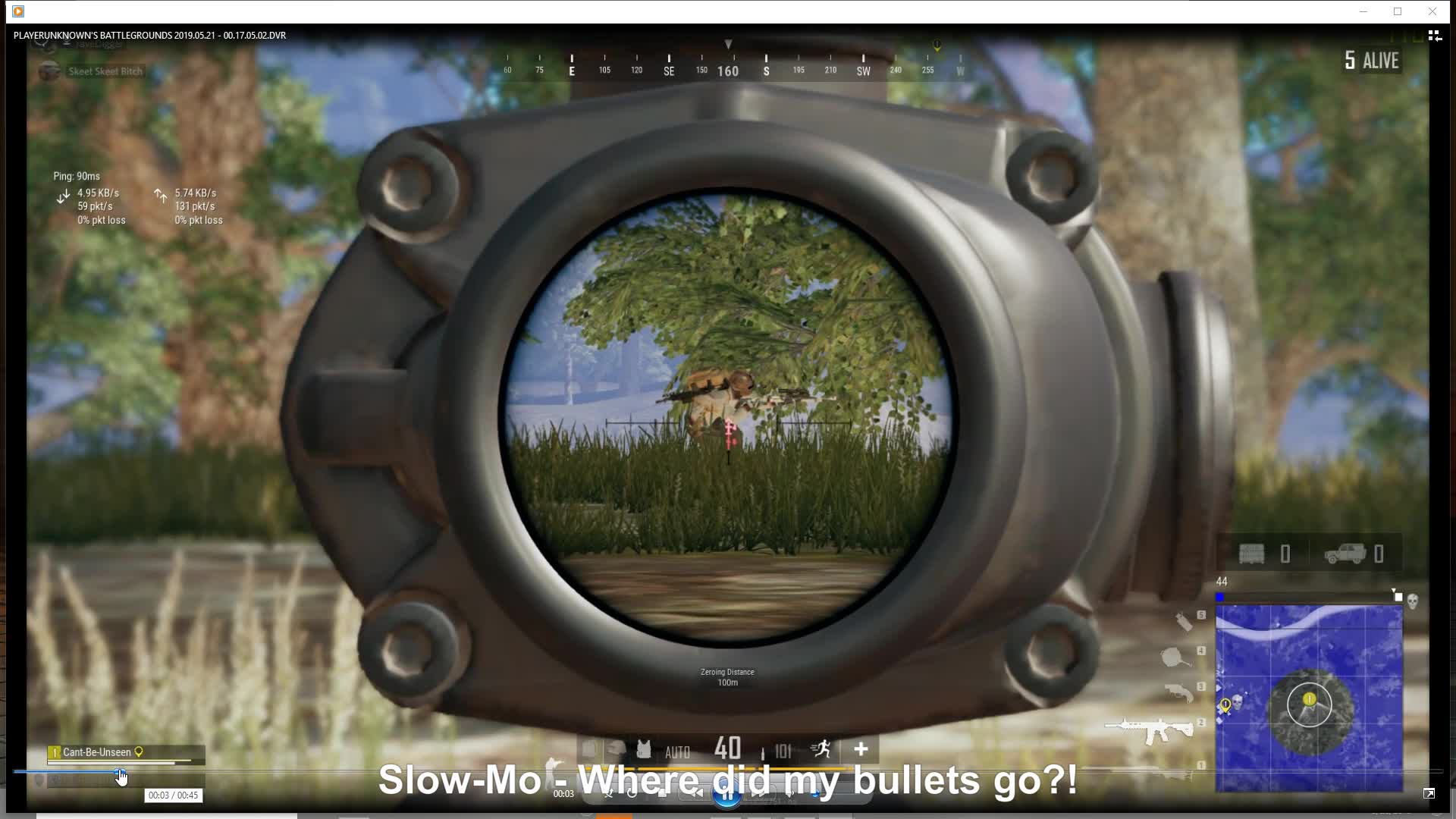 pubattlegrounds, pubg, (Slow-Mo) 30 shots and Didn't down him?? GIFs