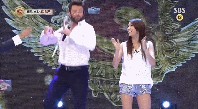 kpics, Bora dancing with Hugh Jackman (reddit) GIFs