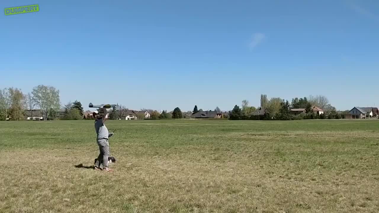 Gloednieuw RC propellervliegtuig GIFs