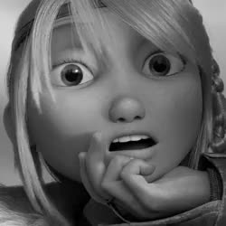 Watch this trending GIF on Gfycat. Discover more astrid, bewilderbeast, black and white, colorless, drago, drago bludvist, dragons, dreamworks, hiccup, httyd 2, myedit, mygif, night fury, toothless GIFs on Gfycat