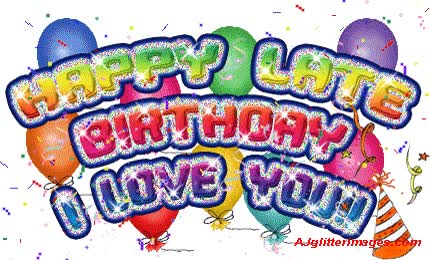 Watch and share Belated Birthday Wishes Images animated stickers on Gfycat