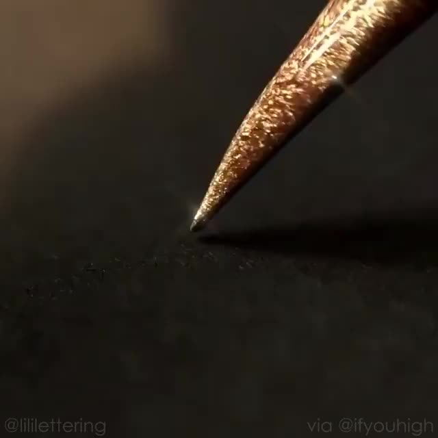Watch and share Glitter Pen And Writing Video By Ifyouhigh GIFs on Gfycat