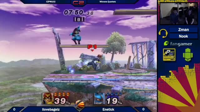 Watch and share CZPM102: Ilovebagelz (Luigi,Falcon,Mario) Vs Enetick (Fox,Lucario) Winners Quarters GIFs by ilovebagelz on Gfycat