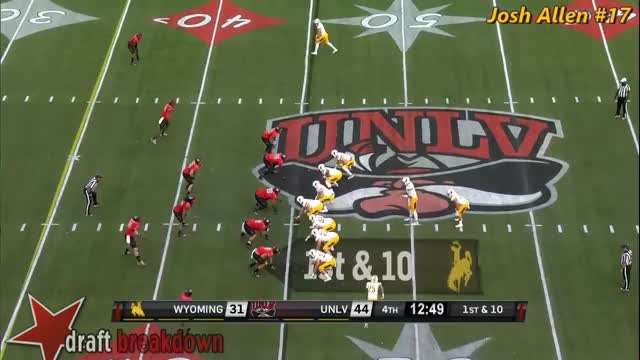 Watch and share Josh Allen (Wyoming QB) Vs UNLV (2016) GIFs by wesdunphy on Gfycat