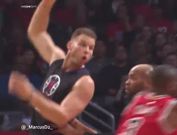 Watch and share Dwyane Wade Block On J.J. Redick GIFs by MarcusD on Gfycat