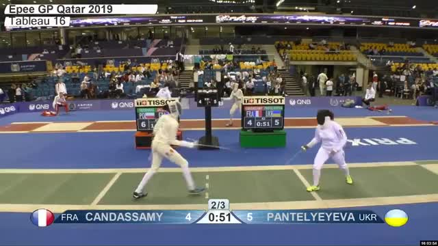 Watch CAN DASSAMY 4 GIF by Scott Dubinsky (@fencingdatabase) on Gfycat. Discover more gender:, leftname: CAN DASSAMY, leftscore: 4, rightname: WTE LYEYEVA, rightscore: 6, time: 00027519, touch: right, tournament: doha2019, weapon: epee GIFs on Gfycat