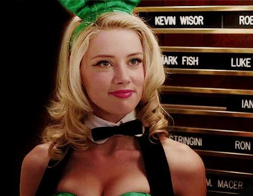Watch and share Amber Heard Hot Playboy Bunny Gif  Tumblr Maureen Eyes Lips GIFs on Gfycat
