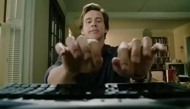 Watch and share Jim Carrey Tries Typing Test GIFs on Gfycat