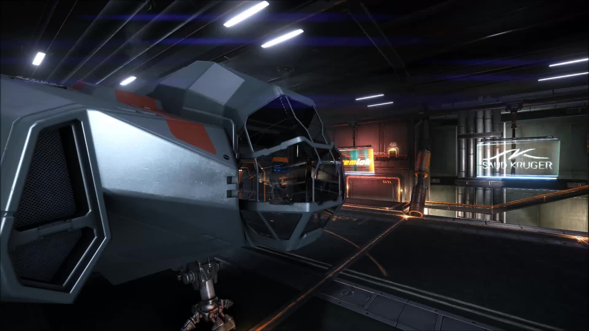elitedangerous, The spacey cockpit of the Type-6 Transporter. GIFs