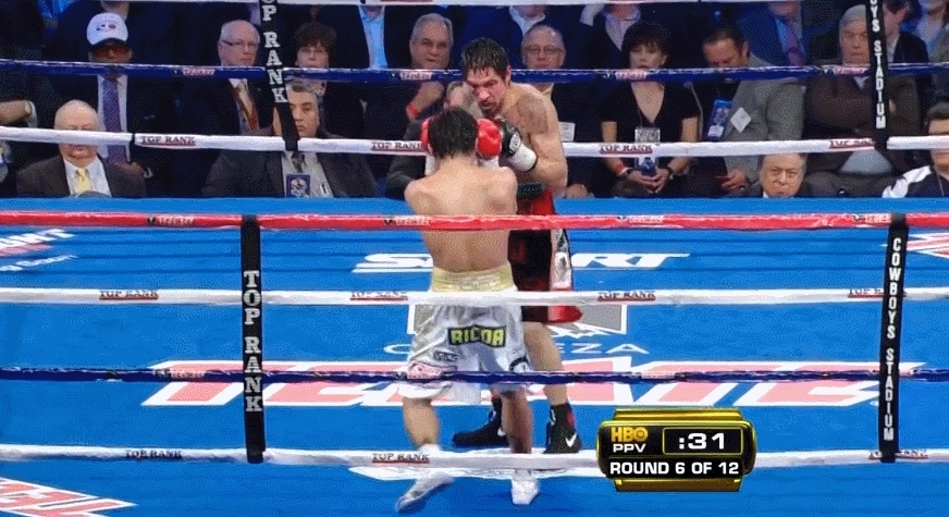 boxing, I think this is the moment Pacquiao decided he won't be coming back to the Middleweight Division anytime soon... (reddit) GIFs