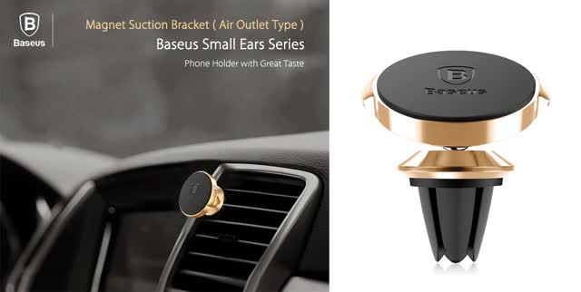 Watch and share Baseus Small Ears Series Magnetic Suction Bracket Phone Holder ( Air Outlet Type ) animated stickers on Gfycat