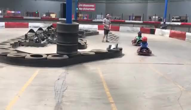 Watch and share Spinning On A Go-Kart GIFs on Gfycat