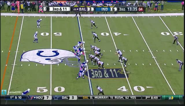 Watch and share Flacco Interception Against Colts GIFs on Gfycat