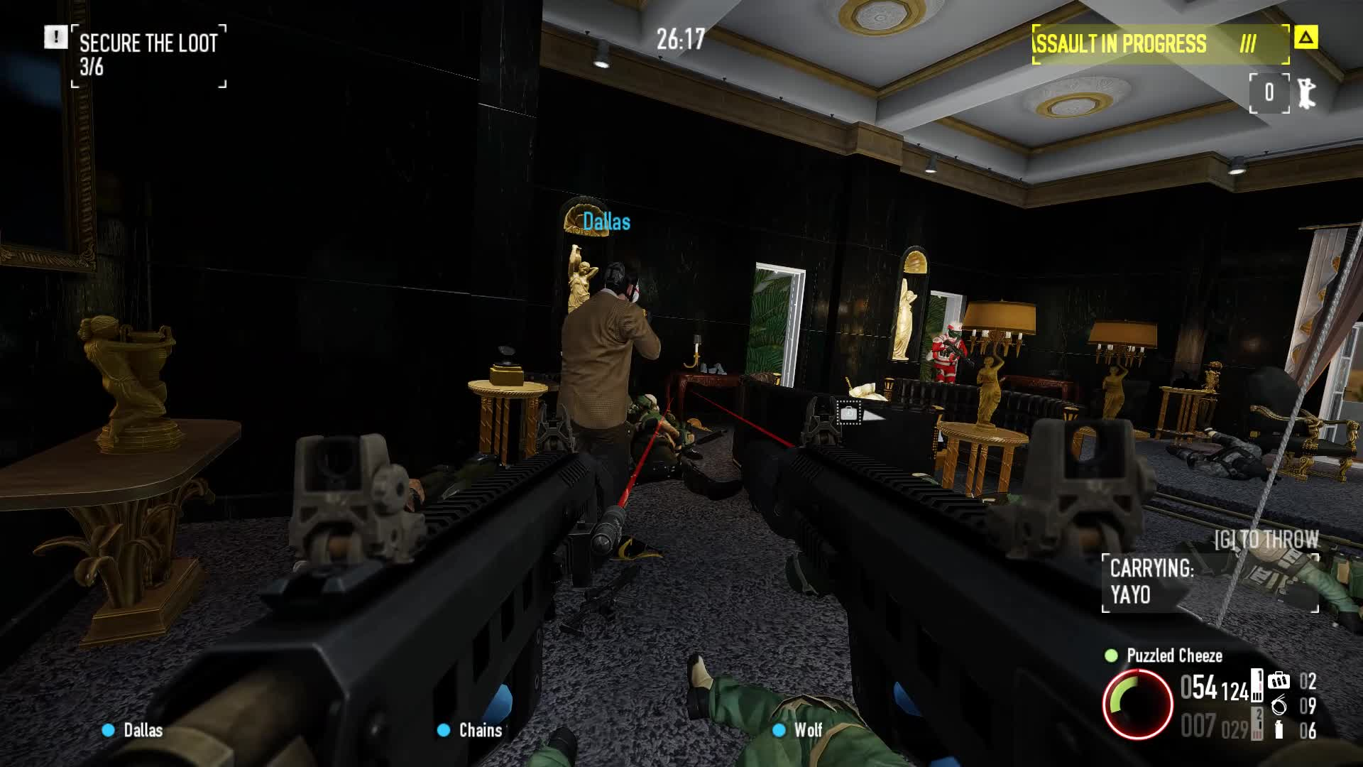2, Payday2, heist, payday, Just take the bag Dallas! GIFs