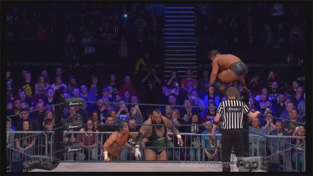 EC3 Top Rope Dive to the Outside, Nobody Catches Him