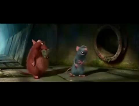 Watch and share Ratatouille  Emile Eating Garbage GIFs on Gfycat