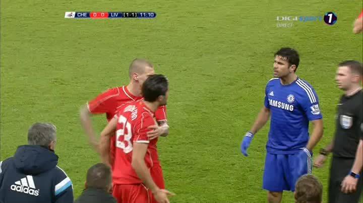 soccergifs, Skrtel vs Mourinho after Costa stamp on Emre's Ankle (reddit) GIFs