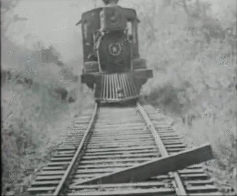 OldSchoolCool, SlyGifs, SweatyPalms, Buster Keaton's insane train stunt ~ 1930s (reddit) GIFs