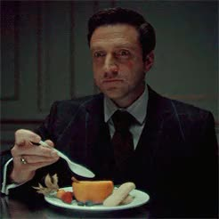 Watch and share Frederick Chilton GIFs and Hannibal Lecter GIFs on Gfycat