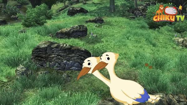 दो सिर वाला पक्षी Hindi Cartoon For Children Hindi Fairy Tales Chiku Tv
