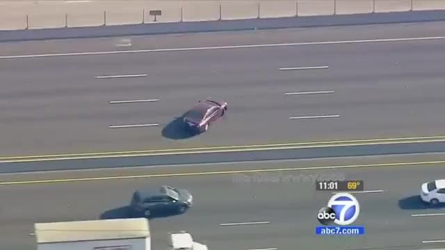 Los Angeles Police Chase (24 February 2014) KABC | KTTV FOX11