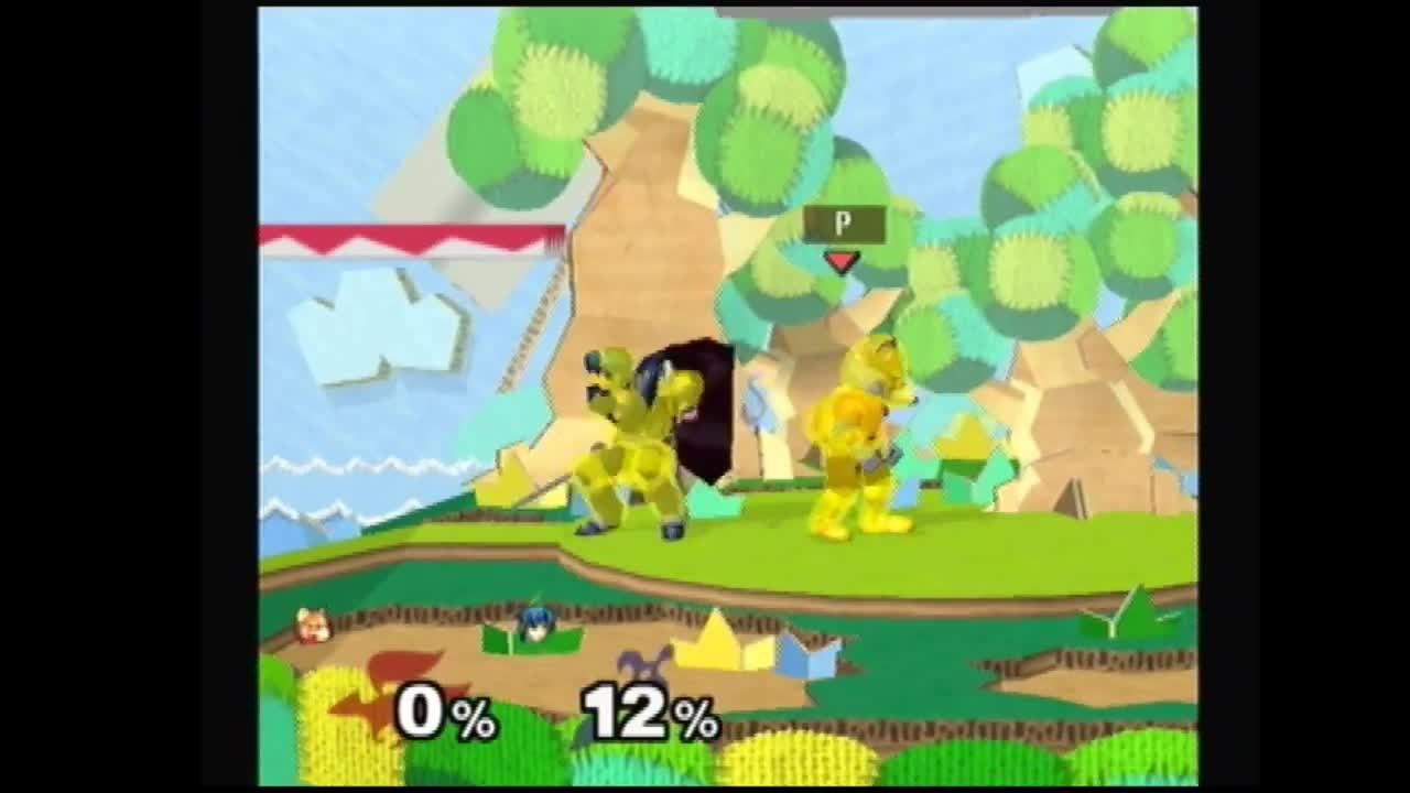 smashgifs, Fox approaching nair vs marth sh nair GIFs