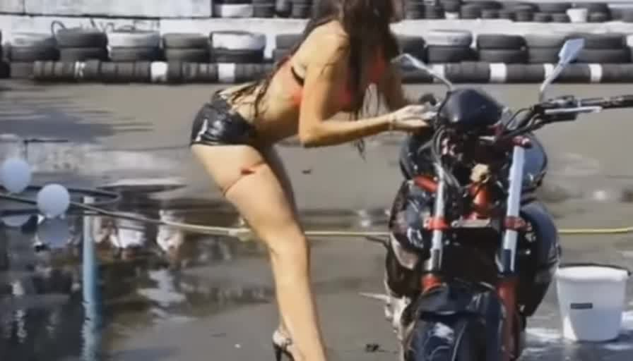 gifs, holdmycosmo, HMC while I grab and hair-whip a parked motorcycle (reddit) GIFs