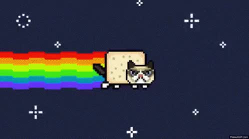 Watch Grumpy Nyan Cat! GIF on Gfycat. Discover more related GIFs on Gfycat