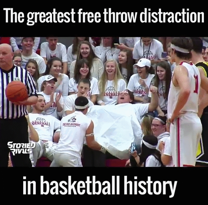 funny, sportsarefun, The art of the free throw.. distraction. GIFs