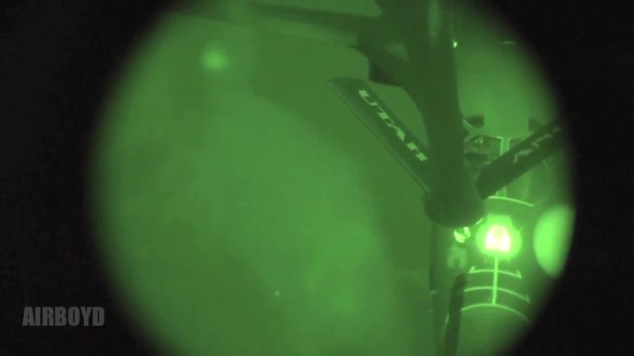 MilitaryGfys, B-1 Bomber night time aerial refueling GIFs
