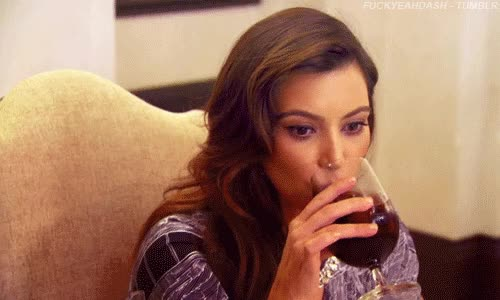 Watch and share Kim Kardashian GIFs and Wine GIFs by Reactions on Gfycat