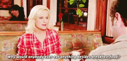 Watch this amy poehler GIF on Gfycat. Discover more amy poehler, breakfast, parks and recreation GIFs on Gfycat
