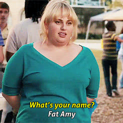 rebel wilson, Rebel Wilson annie makes things pitch perfect fat amy in which texts in my gifs look horrible but idk what to do to make them look better GIFs