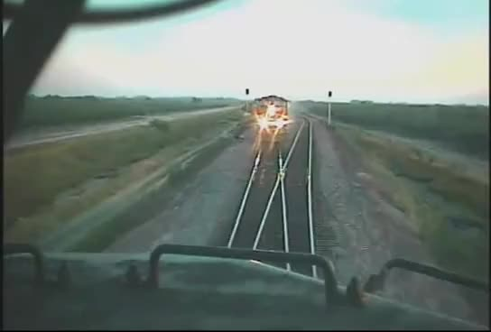 Watch and share Head On Train Collision POV GIFs on Gfycat