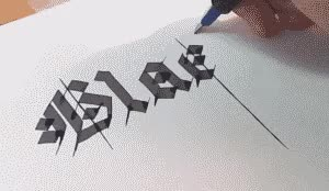 Watch and share Calligraphy Gif GIFs on Gfycat