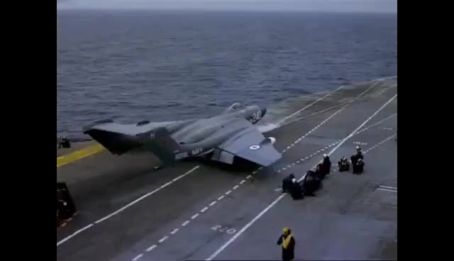 Watch Jet Aircraft Operations aboard HMS Hermes 1960s GIF on Gfycat. Discover more related GIFs on Gfycat