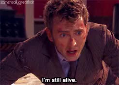 Watch I'm alive GIF on Gfycat. Discover more I had to guess when the knocking was happening based off his face ughhh, david tennant, davidt, doctor who, dw, dwedit, mine, othera, tenth doctor, wilfred mott, ~~ GIFs on Gfycat