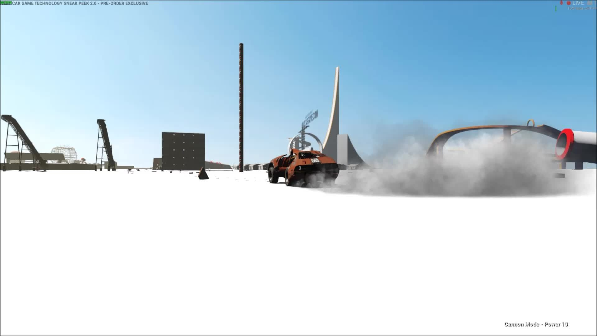 60fpsgaminggifs, [Wreckfest's Sneak Peak] Some of the things you can do with their Tech Demo. (That is a black hole) (reddit) GIFs